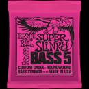 Ernie Ball Húrkészlet basszusgitárhoz 5 húros Nickel Wound 40-125 Super Slinky Bass 2824