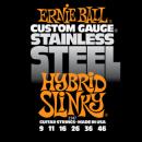 Ernie Ball Húrkészlet elektromosgitárhoz Stainless Steel 9-46 Hybrid Slinky 2247