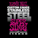 Ernie Ball Húrkészlet elektromosgitárhoz Stainless Steel 9-42 Super Slinky 2248