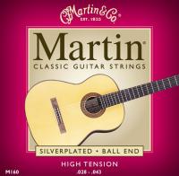 Martin klasszikusgitár húrkészlet M160 high tension, bogyós végű