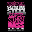 Ernie Ball Húrkészlet basszusgitárhoz Stainless Steel 45-100 Super Slinky Bass 2844
