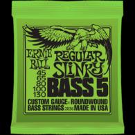 Ernie Ball Húrkészlet basszusgitárhoz 5 húros Nickel Wound 45-130 Regular Slinky Bass 2836