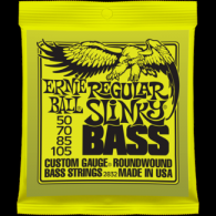 Ernie Ball Húrkészlet basszusgitárhoz Nickel Wound 50-105 Regular Slinky Bass 2832