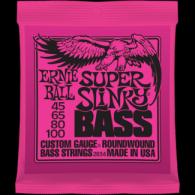 Ernie Ball Húrkészlet basszusgitárhoz Nickel Wound 45-100 Super Slinky Bass 2834
