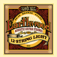 Ernie Ball Húrkészlet akusztikus gitárhoz 12 húros 9-46 Earthwood Bronze Light 2010