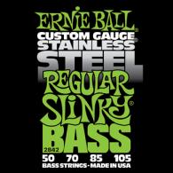Ernie Ball Húrkészlet basszusgitárhoz Stainless Steel 50-105 Regular Slinky Bass 2842