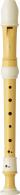 Yamaha furulya YRS-402B szoprán, barokk, műanyag