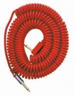 VOX gitárkábel VCC-90RD retro spirál gitárkábel 9m, piros